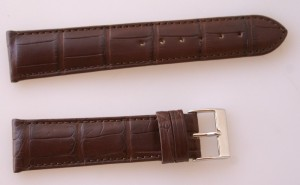 Bracelet Prestige en crocodile de louisiane 20 mm MARRON