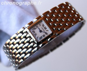 CARTIER Panthere Ruban acier montre dame quartz