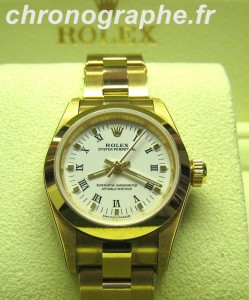 ROLEX oyster pepetual Lady 76188 OR 18K