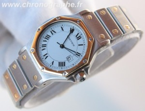 CARTIER Santos Medium Automatique Or acier