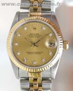 ROLEX Oyster perpetual Datejust diamants 68273
