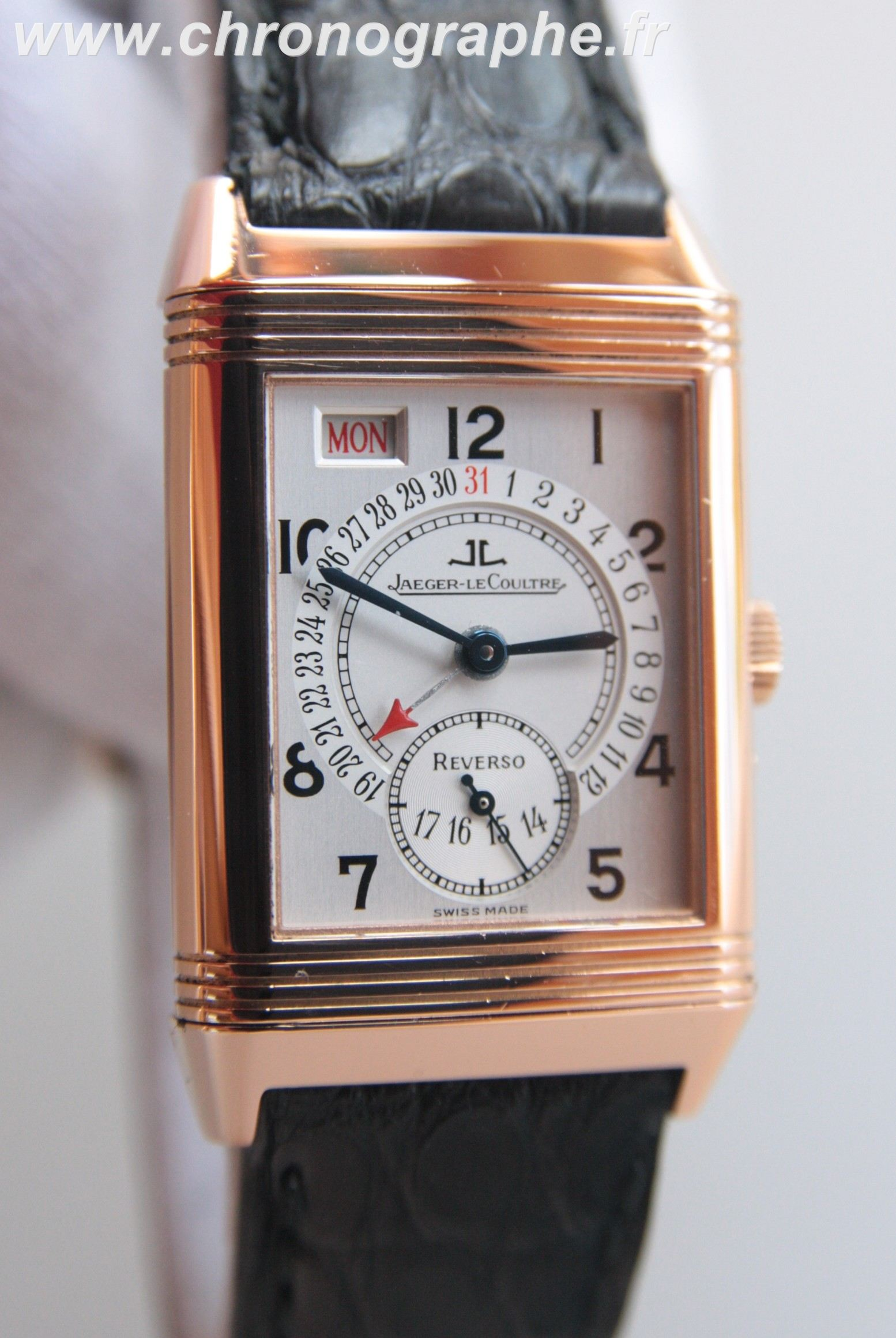 Montre reverso or occasion for Jaeger lecoultre occasion
