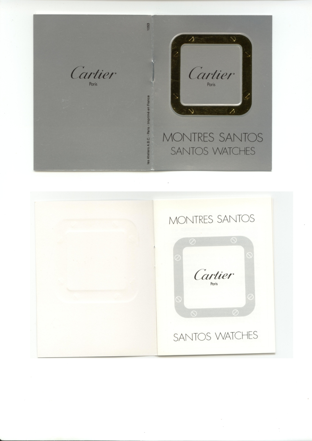 Notice CARTIER Santos watches