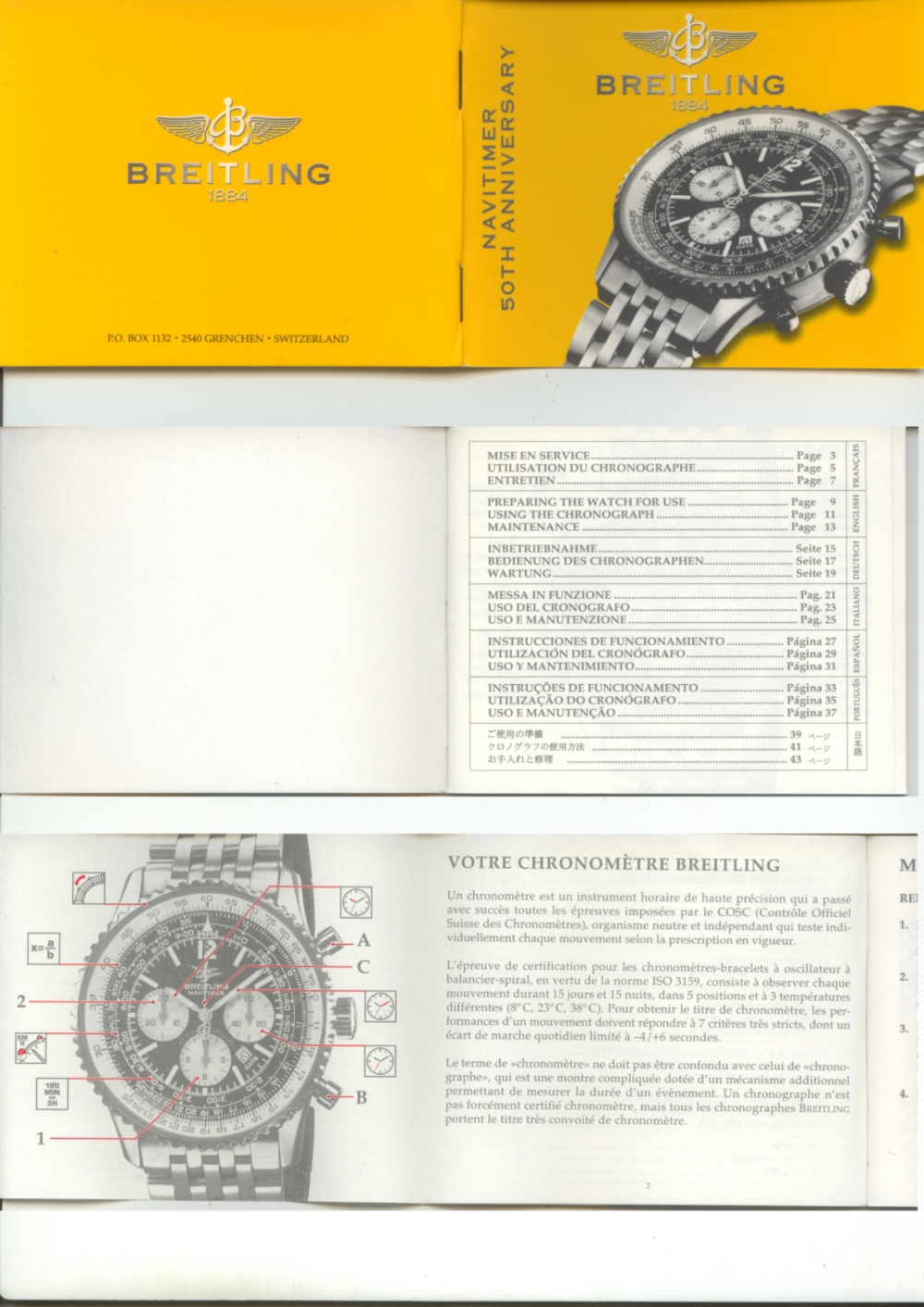 notice navitimer 50th anniversary 1