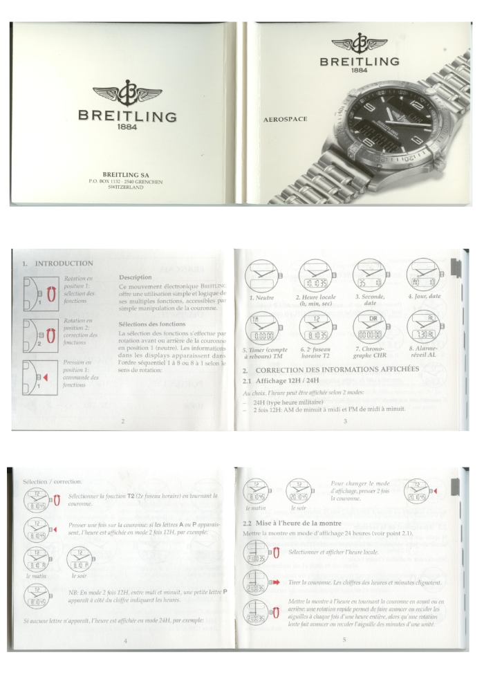 notice breitling aerospace repetition minute